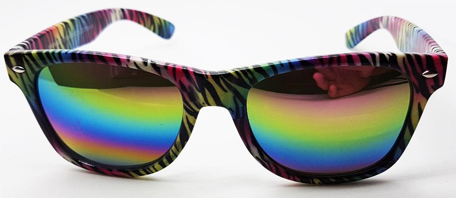 dffb77e8754b Wayfarer solbriller med tiger mønster i flotte farver og spejlglas ...